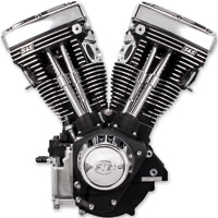 S&S Cycle V111 V Series Long Block Wrinkle Black Engine