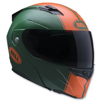 Bell Revolver Evo Rally Matte Green/Orange Modular Helmet