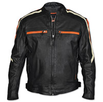 Interstate Leather Men's Blade Black Leather Jacket