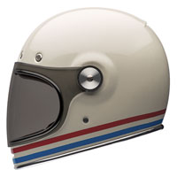 Bell Bullitt Stripes Pearl White Full Face Helmet