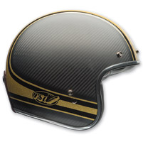 Bell Custom 500 Carbon RSD Bomb Black/Gold Open Face Helmet