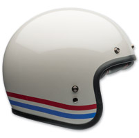 Bell Custom 500 Stripes Pearl White Open Face Helmet