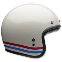 Bell Custom 500 Stripes Pearl White Open Face Helmet