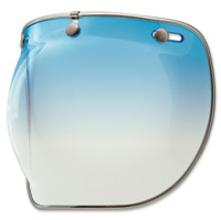 Bell 3-Snap Ice Blue Bubble Shield Deluxe