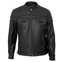 Interstate Leather Men's Rebel Black Leather Jacket