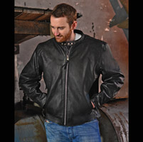 Interstate Leather Men's Jagger Black Leather Jacket