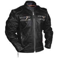 Interstate Leather Men's Gangster Black Leather Jacket