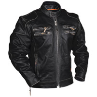 Interstate Leather Men's Gangster Black Leather Jacket