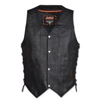 Interstate Leather Men's Justice Black Leather Vest