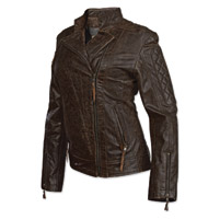 StS Ranchwear Women's Lucy Distressed Brown Leather Jacket