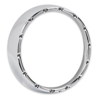 Arlen Ness Chrome Fire Ring with Clear LED Lights