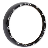 Arlen Ness Black Fire Ring with Clear LED Lights