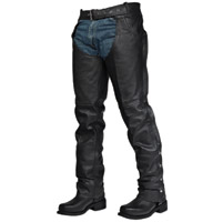 Interstate Leather Unisex Rook Black Leather Chaps