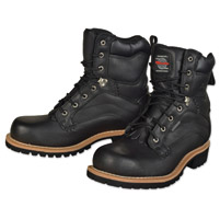 Milwaukee Motorcycle Clothing Co. Men's Drysdale Black Leather Boots