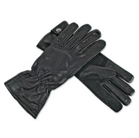Interstate Leather Women's Driving Black Leather Gloves