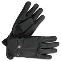 Milwaukee Motorcycle Clothing Co. Men's Form Fitted Riding Black Leather Gloves