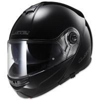 LS2 Strobe Gloss Black Modular Helmet