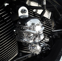 Milwaukee Twins Chrome Skull Horn Cover
