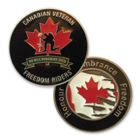 MotorDog69 Canadian Freedom Riders Challenge Coin