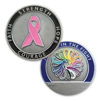 MotorDog69 Breast Cancer Join Us In The Fight Challenge Coin