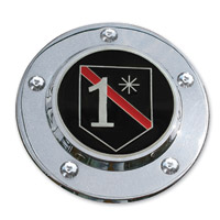 MotorDog69 Timing Cover Coin Mount with MD69 Fire 1 Asterisk Coin