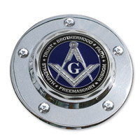 MotorDog69 Timing Cover Coin Mount with MD69 Masonic Coin