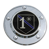 MotorDog69 Timing Cover Coin Mount with MD69 Police 1 Asterisk Coin