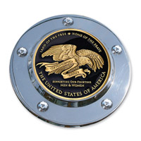 MotorDog69 Timing Cover Coin Mount with Thank You Troops Coin