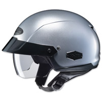 HJC IS-Cruiser Metallic Silver Half Helmet