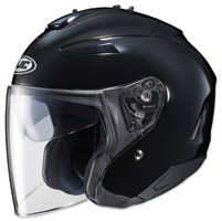 HJC IS-33 II Solid Black Open Face Helmet