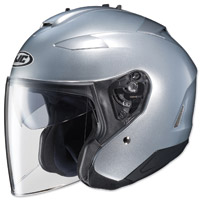HJC IS-33 II Metallic Silver Open Face Helmet
