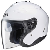 HJC IS-33 II Solid White Open Face Helmet