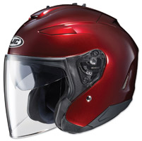 HJC IS-33 II Metallic Wine Open Face Helmet