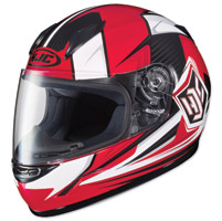HJC CL-Y Striker Red/White Youth Full Face Helmet
