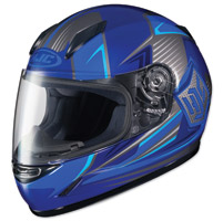 HJC CL-Y Striker Blue/Gray Youth Full Face Helmet
