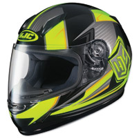 HJC CL-Y Striker Yellow/Gray/Black Youth Full Face Helmet