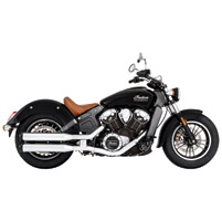 Rinehart Racing Slip-On Mufflers Chrome With Black End Caps