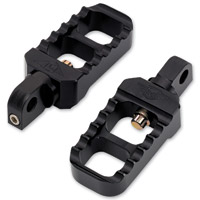 Joker Machine Black Stubby Adjustable Serrated Footpegs