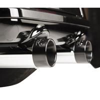 Rinehart Racing 4″ Slip-On Mufflers Black With Chrome End Caps