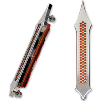 Accutronix Tribal Drilled Chrome Light with Amber LED