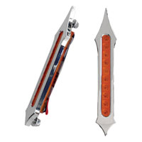 Accutronix Tribal Slotted Chrome Light with Red LED