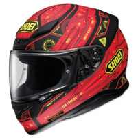 Shoei RF-1200 Vessel Red/Black Full Face Helmet