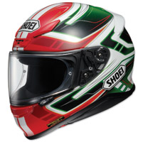 Shoei RF-1200 Valkyrie Red/Green Full Face Helmet