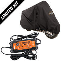 Milwaukee Twins  XL Motorcycle Cover and Smart Charger Special