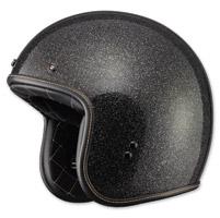 FLY .38 Retro Metal Flake Black Open Face Helmet