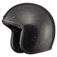 FLY .38 Retro Metal Flake Black Open Face Helmet