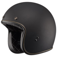 FLY .38 Retro Matte Black Open Face Helmet