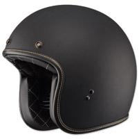 FLY .38 Retro Matte Black Open Face Helmet