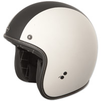FLY .38 Retro Vintage White Racer Open Face Helmet