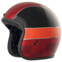 FLY .38 Retro Red/Black/Orange Winner Open Face Helmet